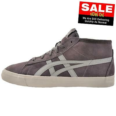 Onitsuka Tiger Fader Mid Junior Casual Fashion Suede Retro Trainers Grey