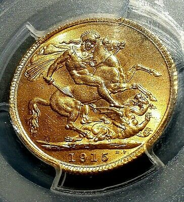 PCGS 1915 King George V - One Full Gold Soverign MS64