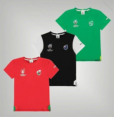 Boys Team Rugby World Cup 2019 Ribbed Crew Top Cotton T Shirt Sizes from 7 to 13