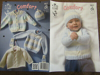 Ci48 Knitting pattern For Children's Chunky Cardigan Jacket Hat /& Mitts Child