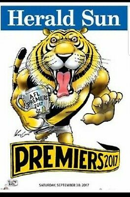 2017 AFL RICHMOND PREMIERSHIP MARK KNIGHT HERALD SUN WEG POSTER limited edition