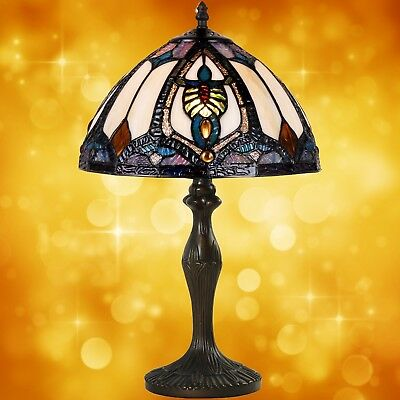 Table Lamp in Tiffany Style Antiques Art Design Bronze Coloured Handmade 6