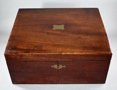 Antique Victorian Campaign Writing Slope Stationery Box
