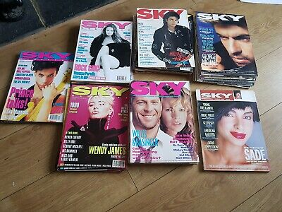 Huge collection of 47 vintage SKY Magazines