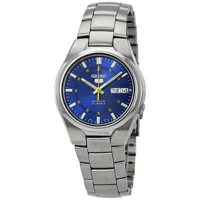 Seiko 5 Automatic Stainless Steel Blue Dial Men's Watch SNK615K1 RRP £149