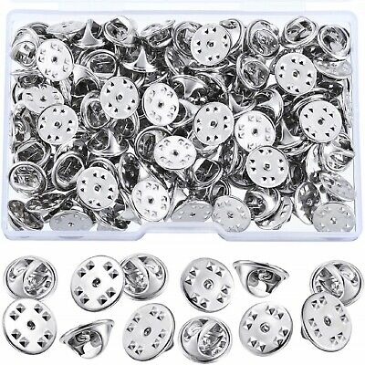 100PCS Metal Locking Pin Backs Butterfly Clutch Badge Keepers Locking Clasp