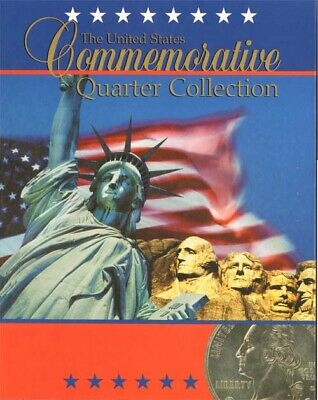 1 Coin Folder For US Commemorative Quarter Collection Map Mt. Rushmore Storage