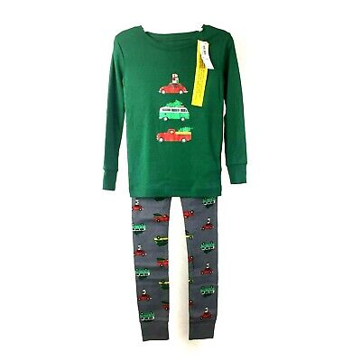 NWT Old Navy Boys 2pc Green Holiday Christmas Tree Pajama Set Size 5T