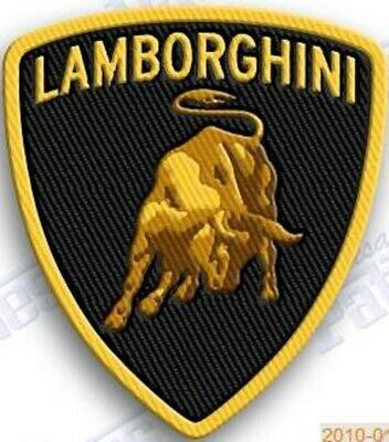 """LAMBORGHINI iron on embroidery patch 2.8"""" x 2.2"""" AUTO CAR RACING PATCHES EMBLEM"""