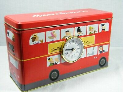 A Quartz Clock made from Reproduction Radio Tin of iconic Red London Bus !!!!