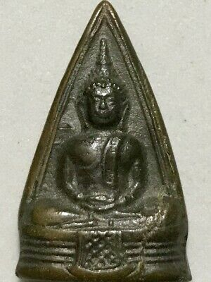 PHRA BUDDHACHINARAJ LP RARE OLD THAI BUDDHA AMULET PENDANT MAGIC ANCIENT IDOL#28