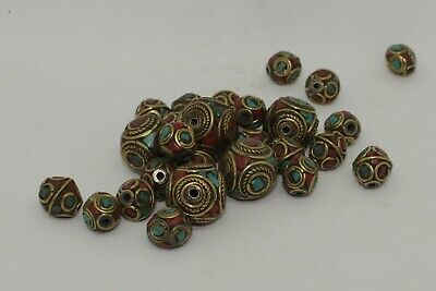 Quantity Of Post Medieval Silver Gilt & Enamel Beads  6657