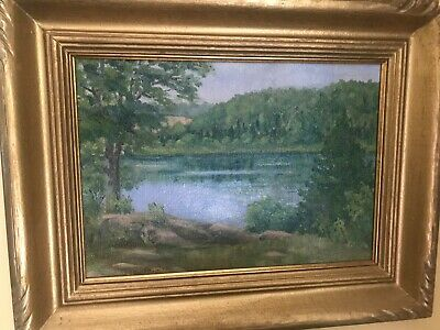 """Owen Sound"" - Original Oil Painting by Canadian Artist George Thomson b 1868"