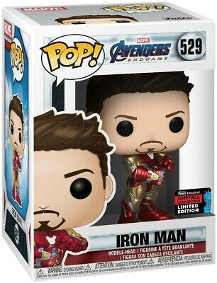 Funko Pop Iron Man Gauntlet NYCC Exclusive SHARED 529 /Amazon / Sold Out Endgame