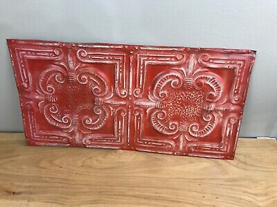 24x12inches  Vintage Ceiling Tin  colored for crafts home decor
