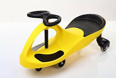 Vencier Yellow SWING CAR RIDE ON SWIVEL SCOOTER CHILDRENS TOY WIGGLE GYRO TWIST