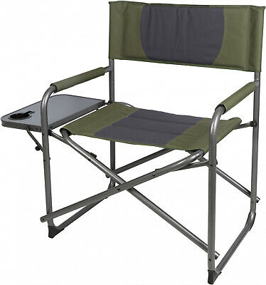 Strange Ozark Trail Directors Chair With Foldout Side Table Camping Theyellowbook Wood Chair Design Ideas Theyellowbookinfo
