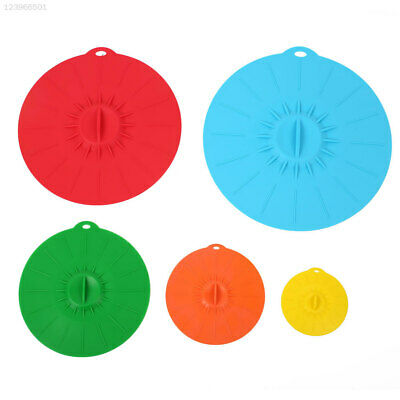 8DAE Bowl Cover Silicone Pan Suction Kitchen Accessories