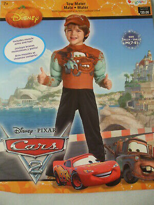 New Boy Disney Pixar Cars Tow Mater Muscle Halloween Costume 3T//4T 4//6 7//8