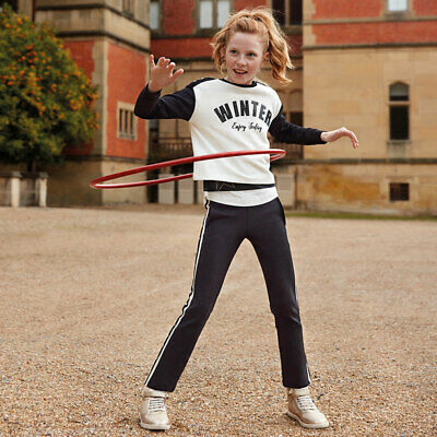 New Mayoral Girls Sporty side stripe tracksuit, Age 8 years (7802)