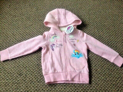 Girls My Little Pony Hooded Jacket Sizes 2-3 up to 6-7 - New!!!