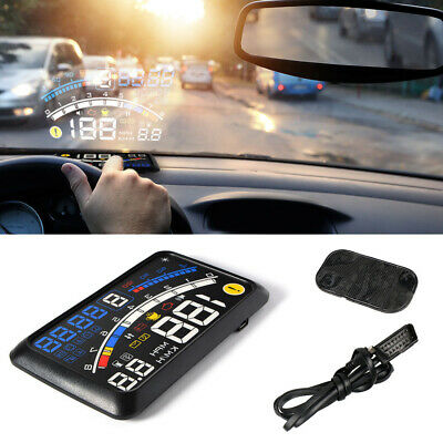 Universal Car HUD Head Up Display OBD2 Speedometer Projector Speed Warning
