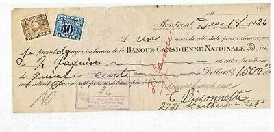 Model T FordSon Lincoln Circa 1926 Ford Dealer First National Blank Bank Check