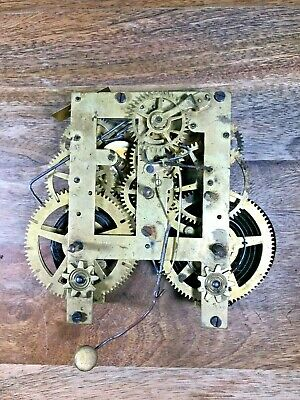 Old Ansonia Clock Movement For Parts/Repair (Not Running) (K1030)