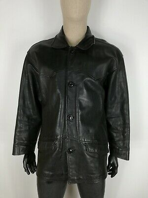O'HENRY  PELLE LEATHER Cappotto Giubbotto Jacket Coat Giacca Tg 50 Uomo