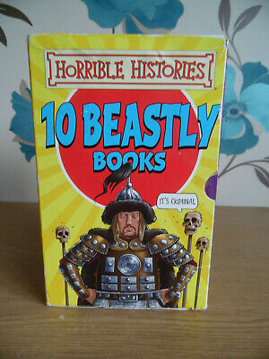 Horrible Histories 10 Beastly books Box Set by Terry Deary (Paperback)