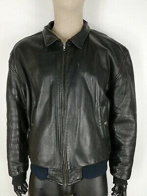 LEVI'S Cappotto in PELLE LEATHER Giubbotto Jacket Coat Giacca Tg XL Uomo