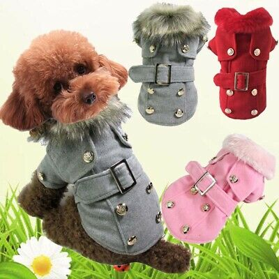 Warm Padded Dog Coat Jacket Chihuahua Winter Pet Clothing Small Cat Puppy