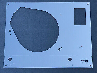 Thorens TD 160 165 166 145 146 147 RETRO top face plate Silver Mirror with LIFT