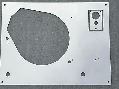Thorens TD 160 165 166 145 146 147 Mk2 top face plate Silver Mirror with LIFT