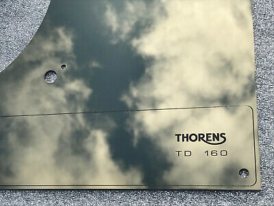 Thorens TD 160 165 166 146 147 RETRO top face plate Champagne Mirror NO LIFT