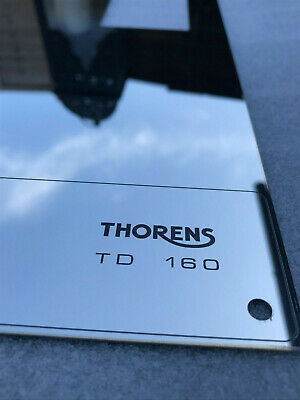 Thorens TD 160 165 166 145 146 147 RETRO top face plate Silver Mirror NO LIFT