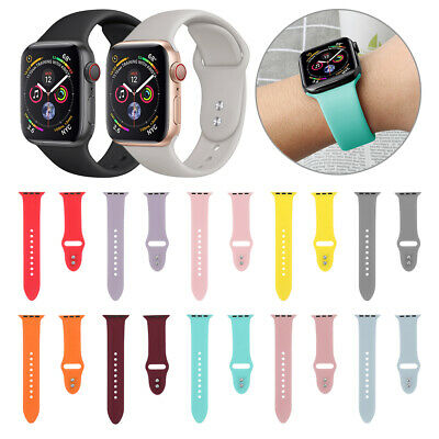 bracelet de montre bracelet silicone For Apple Watch Series 4 3 2 1 iWatch