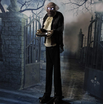 Life Size Animated Moaning Butler Prop Indoor Outdoor Halloween Decoration