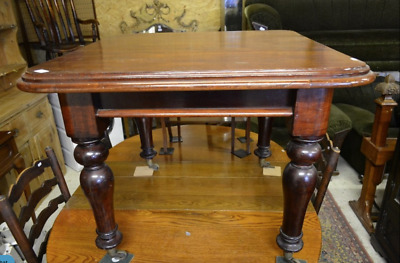 RARE CUTE SMALL Victorian antique solid mahogany dining table