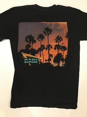 In N Out Burger California Sean Ellingson Sunset Palm Trees T Shirt Mens Small