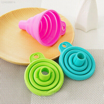 Novelty Silicone Gel Funnel Collapsible Hopper Foldable Funnel Kitchen Tools