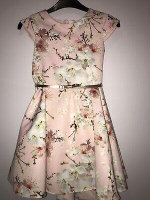 Girls Ted Baker Pink Floral Party Dress Age 10