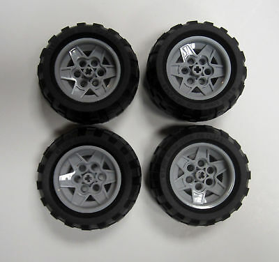 LEGO Technic WHEEL LOT 20x30 size 2 pcs Med ORANGE Rims part 6582c01 from 4589