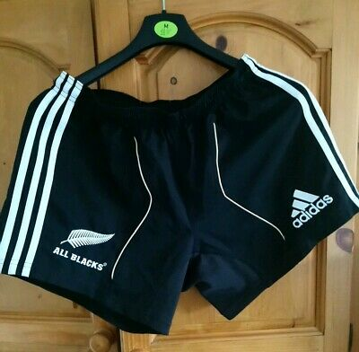 "Mens New Zealand All Blacks Rugby Union Shorts Adidas Size 34"" black"