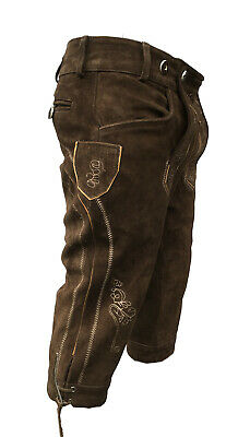 Lederhosen Leather Mens German Bavarian Trachten Oktoberfest Pas-Uk 32""