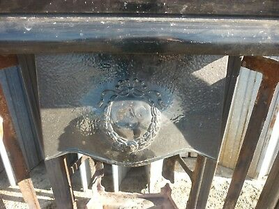 Victorian Edwardian Cast Iron Fire Surround Tiles Open Fire Place *