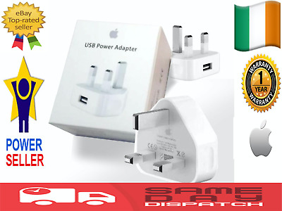 Apple iPhone iPad iPod Charger Plug Wall USB Cable Sync Lead 4S 5 5S 6 7 X 1m 2m