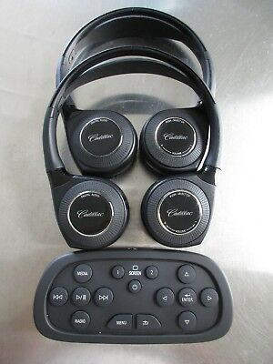 2015 16 17 2018 Cadillac Escalade Dvd Remote Plus Digital Audio Headphones Oem