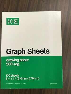 K+E Keuffel & Esser Graph Sheets Drawing Paper 46 0250 GNG OUT OF BUSINESS SALE