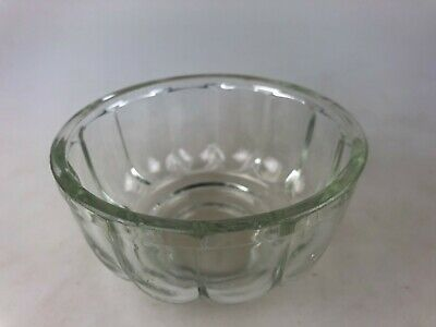 Vintage Glass Jelly Mould Mold - 12Cm Wide - Collectable Kitsch